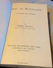 front cover - Art in Scotland